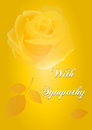With Sympathy Card-yellow rose Royalty Free Stock Images