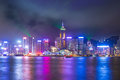 A Symphony of Lights show in Hong Kong, China Royalty Free Stock Photo