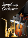 Symphony orchestra illustration of a poster Royalty Free Stock Photo