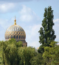 Synagoge cupola in berlin the decorative of a germany at summer time Royalty Free Stock Image
