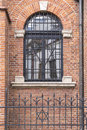 Synagogue window in krakow Stock Photos
