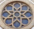 Synagogue Window in Novi Sad Royalty Free Stock Photo
