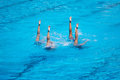 Synchronised Swimming Royalty Free Stock Photo