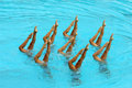 Synchronized Swimmers Royalty Free Stock Photo