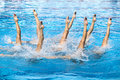 Synchronized swimmers Stock Photos