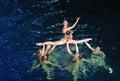 Synchronous swiming Royalty Free Stock Photo