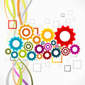 Synergy abstract colorful vector illustration of concept Stock Photography