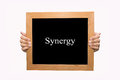 Synergy hand write word concept Stock Photography