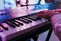 Synthesizer keyboard Royalty Free Stock Photo