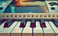 Synthesizer Piano Keyboard closeup Royalty Free Stock Images