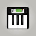 Synthesizer square icon vector illustration Stock Photos