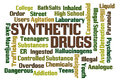 Synthetic drugs word cloud on white background Stock Photography