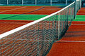 Synthetic sports field for tennis 11 Royalty Free Stock Image