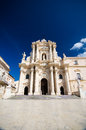 Syracuse the duomo in sicily was built in vii century over great temple of athena Royalty Free Stock Photo