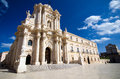 Syracuse the duomo in sicily was built in vii century over great temple of athena Stock Photo