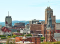 Syracuse new york view of the city of in upstate Royalty Free Stock Photos