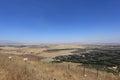 Syria Israel Border from Mount Bental, Golan Royalty Free Stock Photo