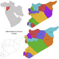 Syria map administrative division of the syrian arab republic Stock Image