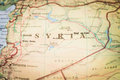 Syria map of the middle east region of Royalty Free Stock Photography