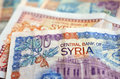 Syria money bank notes syrian paper hundred and two hundred from Royalty Free Stock Photos