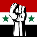 The Syrian flag. Stock Photo