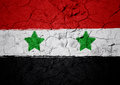 Syrian flag with grunge background Stock Photo