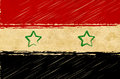 Syrian flag with grunge background Royalty Free Stock Photo