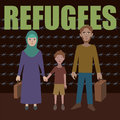 Syrian refugees civil war in syria crisis emigrants fleeing Royalty Free Stock Images