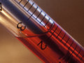 Syringe pen to write red liquid inside Stock Photos