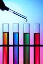 Syringe and test tubes Royalty Free Stock Photo