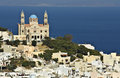 Syros island in greece ermoupolis town at Stock Image