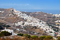 Syros island in greece upper area Stock Image