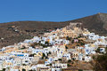 Syros island in greece upper area Royalty Free Stock Photos