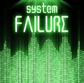 System failure with cyber binary code background technology Stock Image