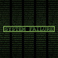 System failure digital hacking virus Royalty Free Stock Images