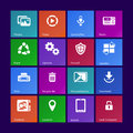 System icons set ii metro style custom versions Royalty Free Stock Photos
