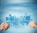 System integration concept Royalty Free Stock Photo