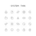 System thin icon set