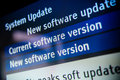 System update software available on a modern smart tv set Royalty Free Stock Photos