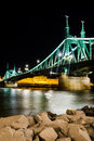 Szabadsag, Liberty Bridge in Budapest, Hungary Royalty Free Stock Image