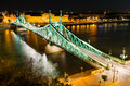 Szabadsag liberty bridge in budapest hungary connects buda and pest across the river danube built Royalty Free Stock Photos