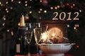 Szczęśliwy 2012 Obraz Stock