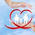 Szczęśliwy family love Obraz Royalty Free