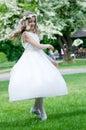 Szczęśliwy najpierw communion taniec Fotografia Stock