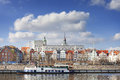 Szczecin old town seen from the Odra River, Poland Royalty Free Stock Photo