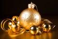 Szczegół Boże Narodzenia decorations.gold Obraz Stock