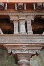 Szczegół drewniany cyzelowanie w alchi monasterze w ladakh india Obraz Royalty Free