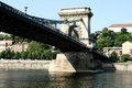 Szechenyi chain bridge budapest hungary Royalty Free Stock Photo