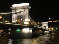Szechenyi Chain Bridge at night Royalty Free Stock Photo