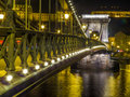 Szechenyi Chain Bridge by night Royalty Free Stock Photo